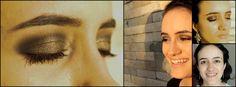 Maquiagem bronze e chumbo para destacar o olhar.