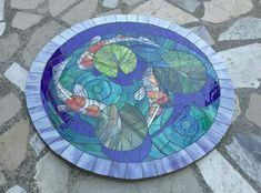 Japon balıkları. Koi fish mosaic. Glassmosaic.
