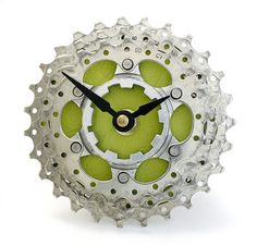 Recycled Bicycle Cog Desk Clock