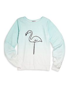 Wildfox Kids Little Girl's & Girl's Flamingo Sweatshirt