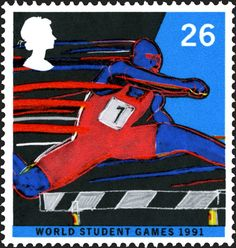 Royal Mail Special Stamps   Sport  Hurdling. World Student Games 1991