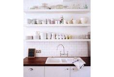 Piękne inspiracje: otwarte, kuchenne półki