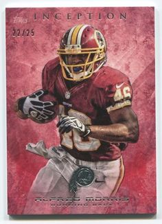 2013 TOPPS INCEPTION ALFRED MORRIS RED SP