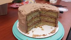 serious score with this cake!!  I doubled the recipe and made three layers and I used salted caramel hazelnut spread instead of nutella... oh.  my!!!
