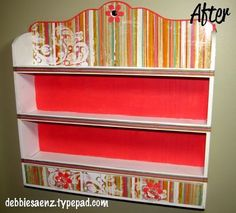 Spice Rack do-over by debbiesaenz - she shows before and after