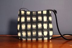 Doris, the Day Bag.  Heavy canvas painted with discharge.  by Nancy Newman Textiles on Etsy