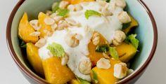 Mangosalat Mango Salat, Cantaloupe, Mashed Potatoes, Sweets, Cakes, Fruit, Ethnic Recipes, Food, Salads