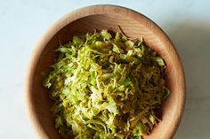 Union Square Café's Hashed Brussels Sprouts with Poppy Seeds and Lemon- Food 52 Vegetable Side Dishes, Vegetable Recipes, Sprout Recipes, Cooking Recipes, Healthy Recipes, Cooking Games, Menu, Thanksgiving Sides, Lemon Recipes