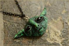 Little Yoda pendant  handsculpted by Vocisconnesse on etsy