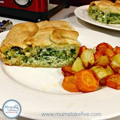 Thermomix Spinach Pie  Easy Spinach Pie with Beautiful Puff Pastry.