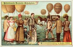 vintage everyday: 12 Vintage Postcards from the 1900s Depict What Life Would be Like in the Year 2000