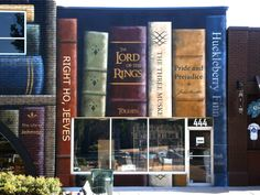 Alicyn Wright, a Salt Lake City-based artist created this gorgeous mural for Pioneer Book Store in Provo, Utah.