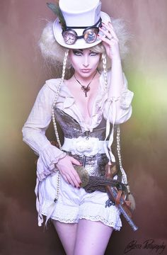 Comtesselea steampunk by TheComtesseLea [Via arsenicinshell ] I've found it!!!!!! My perfect wedding outfit.