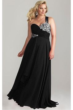 Radiant Plus Size Floor-length Dropped Zipper Chiffon Evening Dresses