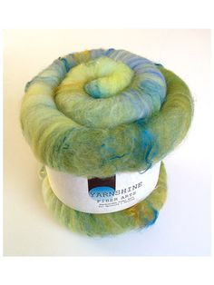 MACAW: Hand-carded Wool/Silk Bamboo Batt for Spinning/Felting on Etsy, $18.50