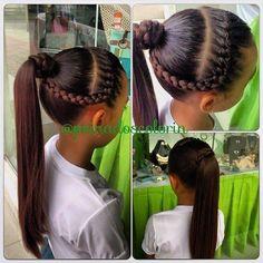 Más de los sencillos #peinados para la entrada al colegio que se aproxima en #colorin #peluqueria #bellas #trenzas #braids para las #niñas en #cucuta #girls #girl #hair