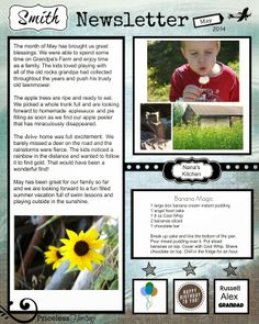 Family Newsletter Template | Organization | Pinterest | Newsletter ...