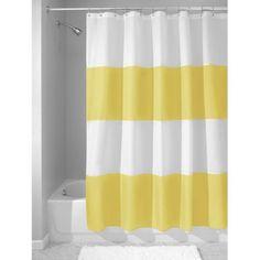 InterDesign 183 X Cm Mildew Free Water Repellent Zeno Shower Curtain Striped CurtainsFabric