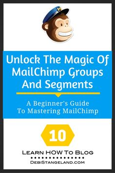 Using MailChimp groups and segments, you can give your subscribers exactly what they want when they want it. Allow your readers to choose when they hear from  you. Find out what's working and what isn't. MailChimp does the work, you choose the options. It's like magic! ★ Learn HOW To Blog ★