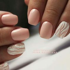Gorgeous pink nail design perfect for the summery weather