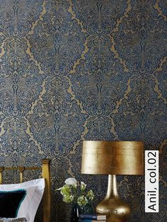 Behang wallpaper collection boutique bn wallcoverings for Tapete orientalisch turkis