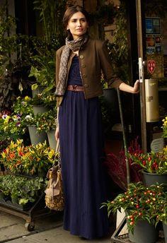 Maxi dress combo for fall