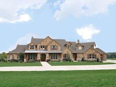 Luxury Ranch Home Exteriors | North Texas Luxury: Texas Styled Ranch Home on 25 Acres in McKinney ...