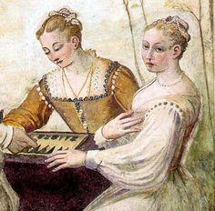 Fresque, vers 1565 Giovanni Antonio Fasolo Détail. Villa Caldogno, Veneto, Italie