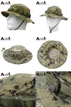 [Visit to Buy] Emerson Tactical Anti-scrape Camouflage Bucket Hat Battle Rip Boonie Hats Outdoor Hiking Fishing Hunting Cap Sports Sunhats #Advertisement