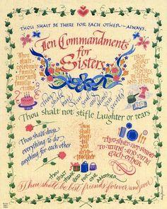 Ten Commandments of Sisters