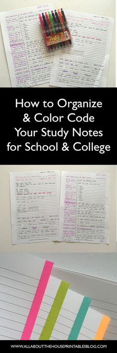 how to color code your notes for school study finals exam prep organized study notes should you color code exam study tips planne