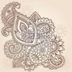 Resumen de henna Mehndi Paisley dibujado a mano Elementos de dise�o vectorial Doodle Ilustraci�n photo