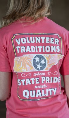Pink Palm Print Tennessee Tristar Outline Pocket Tee