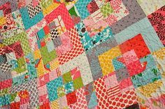 triple square quilt pattern - Google Search
