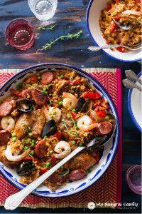 Clean Eating Paella Recipe | My Natural Family
