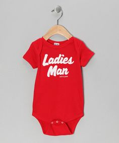 Take a look at this Red 'Ladies Man' Bodysuit - Infant by David & Goliath on #zulily today!