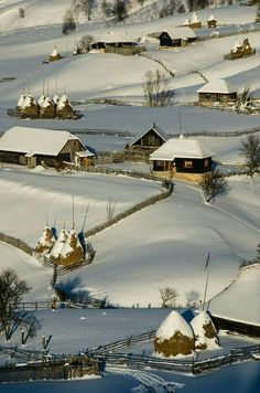 Șureanu Mountains Romania by Catalin Pomeanu . Relax with this nature photo. Winter Szenen, Winter Magic, Places To Travel, Places To Visit, Travel Destinations, Visit Romania, Romania Travel, Voyage Europe, Winter's Tale