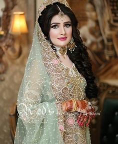 Pakistani Wedding Outfits, Pakistani Wedding Dresses, Bridal Outfits, Bridal Wedding Dresses, Wedding Bride, Pakistani Bridal Makeup, Indian Bridal Fashion, Bridal Lehenga Collection, Bridal Makeup Looks