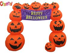 Inflatable pumpkin arch for Halloween party entrance decoration