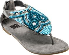 MUK LUKS Audrey Beaded Sandal - Dark Grey with FREE Shipping & Returns. The Audrey hand-beaded sandal from Muk Luks will take you back to crystal