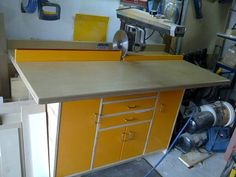 Radial-arm saw cabinet