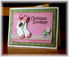 Pink Stitched Stockings (hk) by tankgrl - Cards and Paper Crafts at Splitcoaststampers