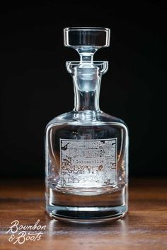 Gainesville College Town Engraved Whiskey Decanter