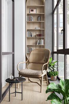 Bedroom Study Area, Study Rooms, Interior Architecture, Interior And Exterior, Condo Balcony, Balcony Design, Restaurant Interior Design, House Names, Scandinavian Interior