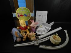 Disney Winnie The Pooh and Friends Musical Mobile Baby Crib Plush Figures - The Ivy Vine Resale Store #eBay