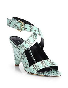 DEREK LAM Pace Snakeskin Sandals
