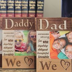 Our Personalized Dad / Grandpa / Papa Photo Frame is a touching way of showing your love for Dad, Grandpa, Uncle, or any dear family friend! You choose the special name you call him. In addition, all of your children's names are beautifully laser inscribed and repeated on the frame.
