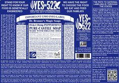 Thank you Dr.Bronner's Magic Soaps for supporting Yes on 522! Watch why they have joined this movement here: http://www.youtube.com/watch?v=J041VuS9p8s