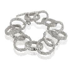 Valiant Silver Chunky Bracelet  www.kirstenhendrich.com