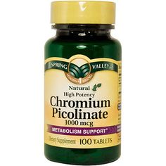 Spring Valley Chromium Picolinate, 1000mc This product has helped greatly to reduce my cravings for sweets.